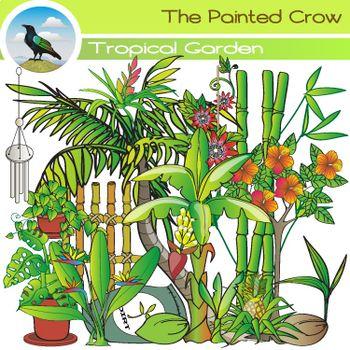Tropical Garden Clip Art.