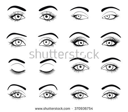 Eyelashes Stock Images, Royalty.