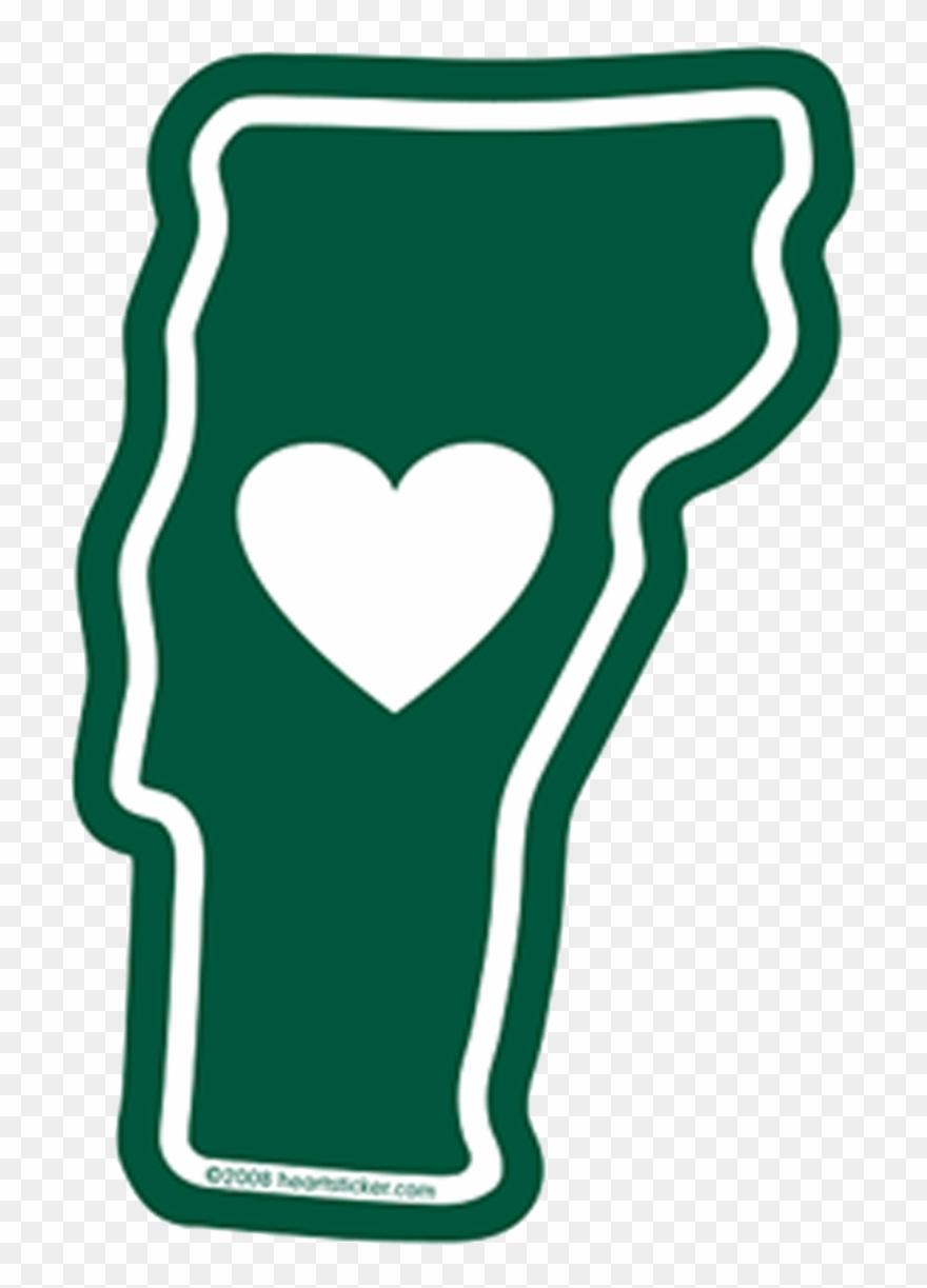 Vt Heart In Vermont Sticker.