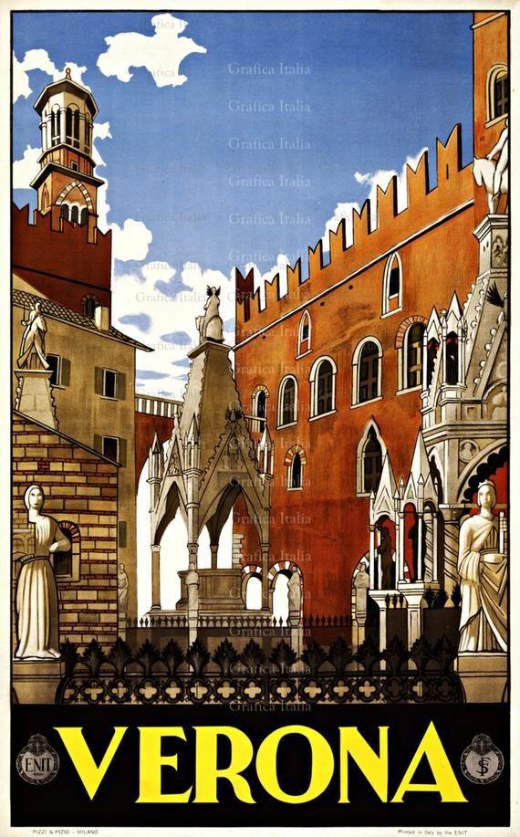 VERONA ITALY Travel Poster.