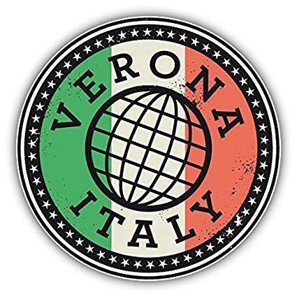 Amazon.com: Verona Italy Flag Travel Grunge Stamp Art Decor.