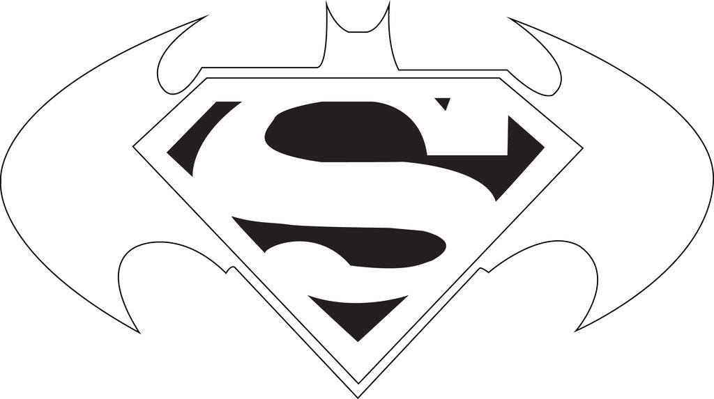 batman outline And superman clipart outline jpg.