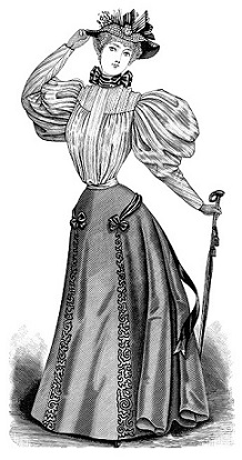 Clipart victorian woman.