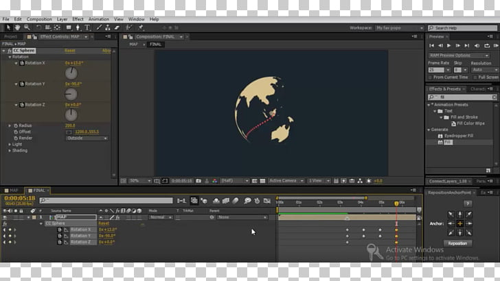 Adobe After Effects Animation Video Computer Software.