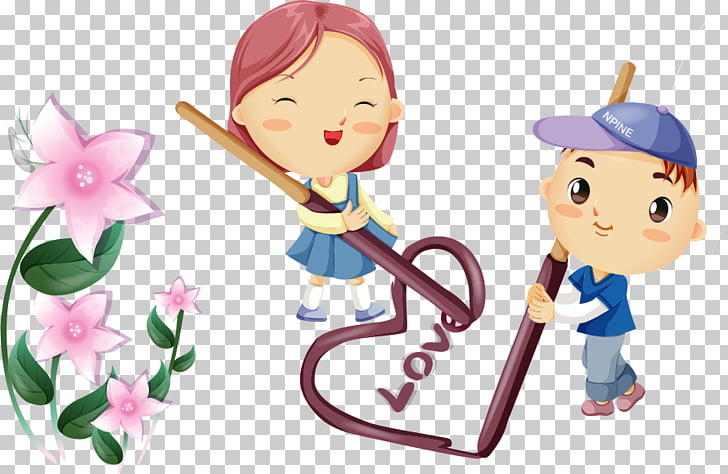 Cartoon Romance Drawing , Videos caring cartoon couple PNG.