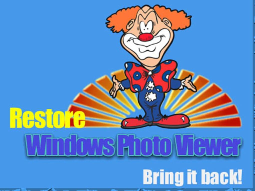 Restore Windows Photo Viewer to Windows 10 (Windows).