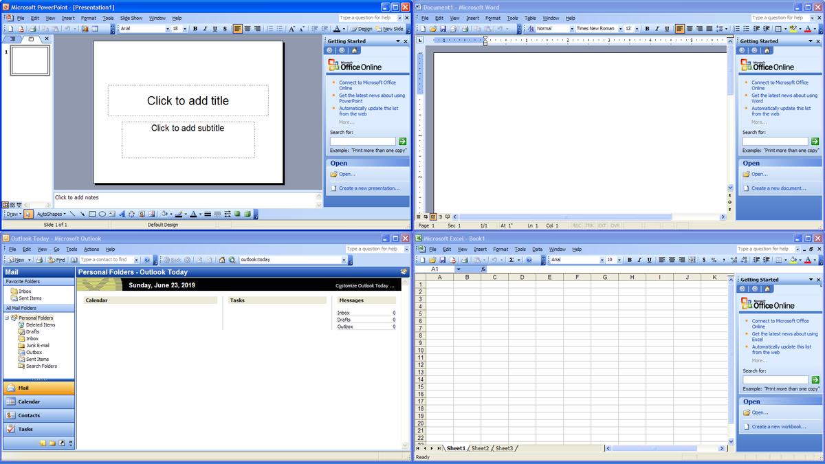 Microsoft Office 2003.