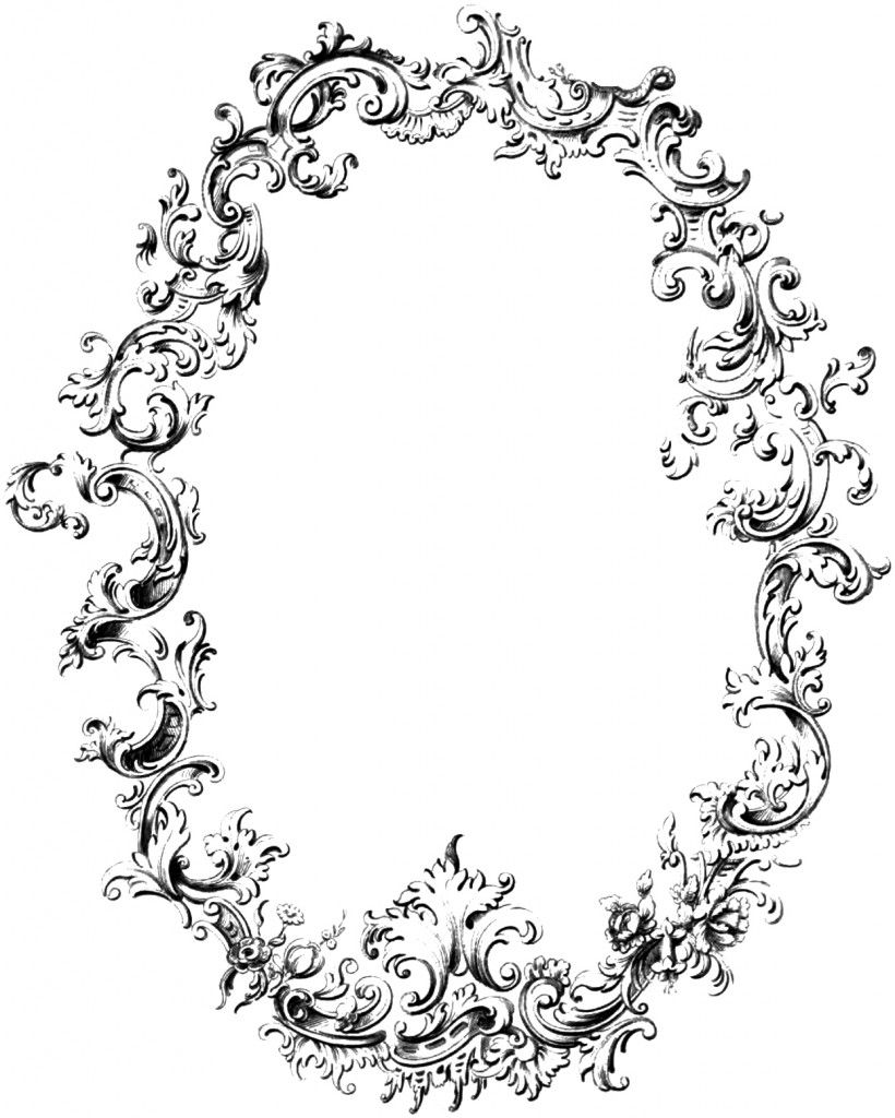 Free Fancy Frame Vintage Clip Art Image.