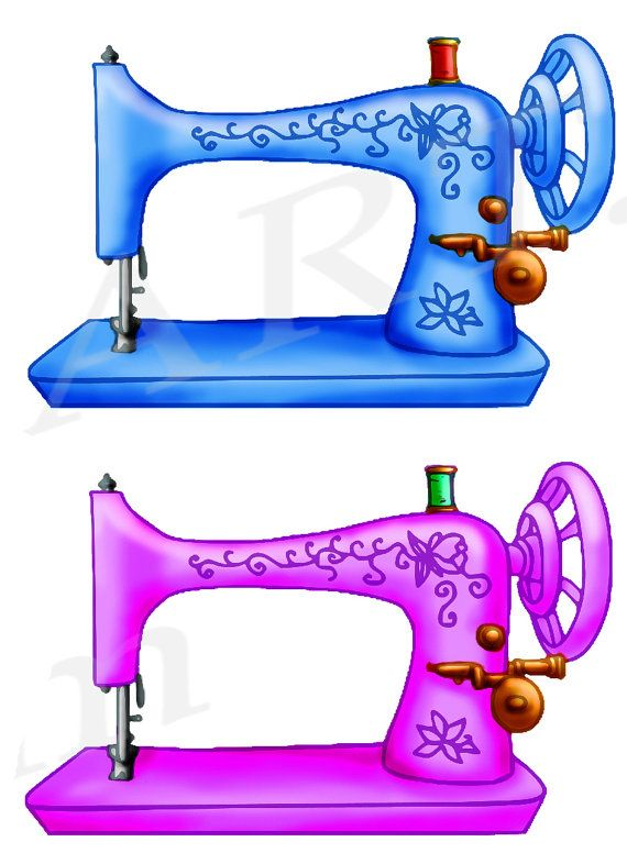 Sewing Machine Clipart, Sewing Machine Clip art, Vintage.