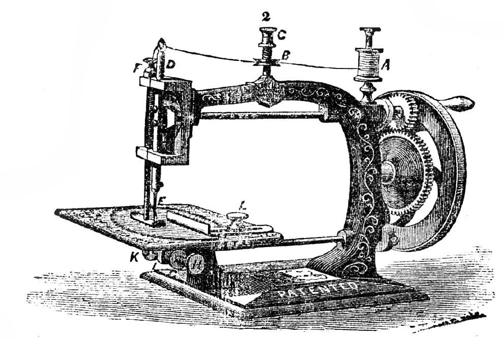 Free Vintage Sewing Machine Silhouette, Download Free Clip.