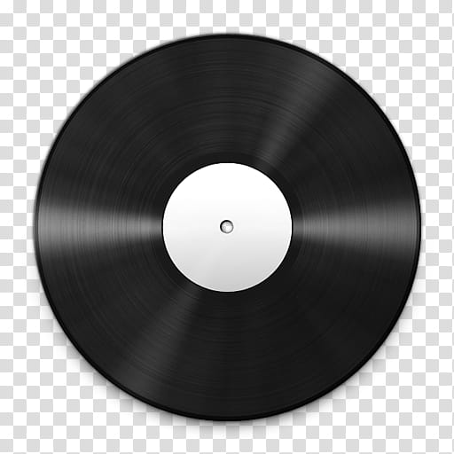 Vinyl Record Icons, Vinyl_White_, black vinyl disc art.