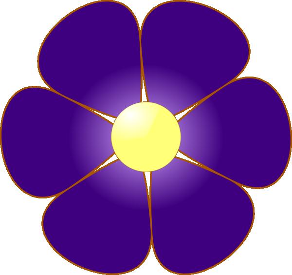 Violet flower clipart 2 » Clipart Station.