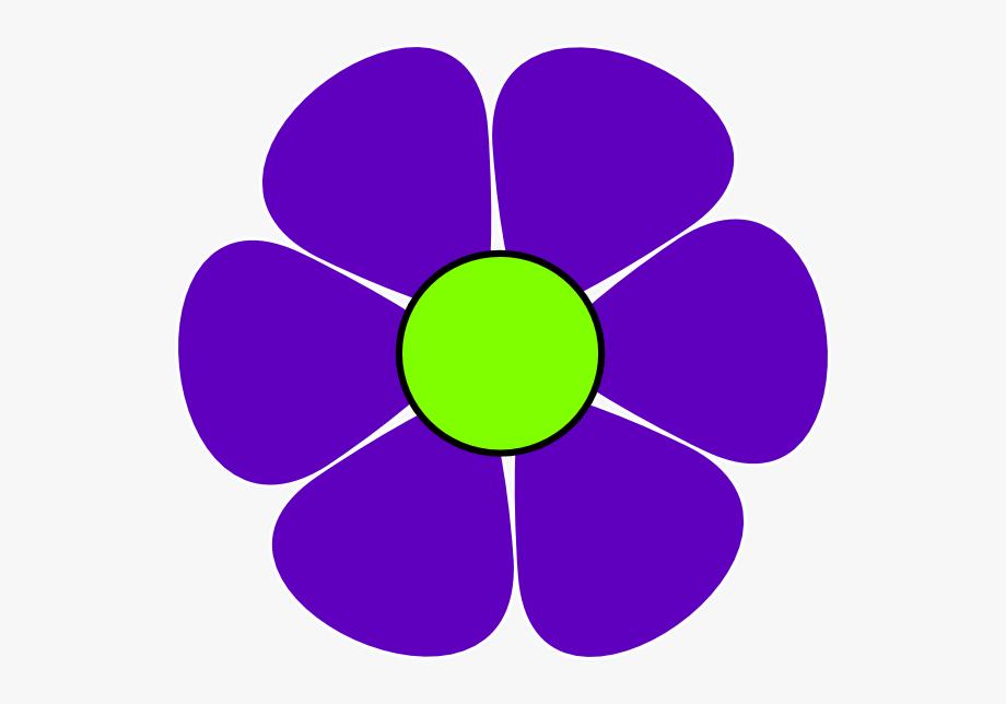 Violet Flower Clip Art , Transparent Cartoon, Free Cliparts.
