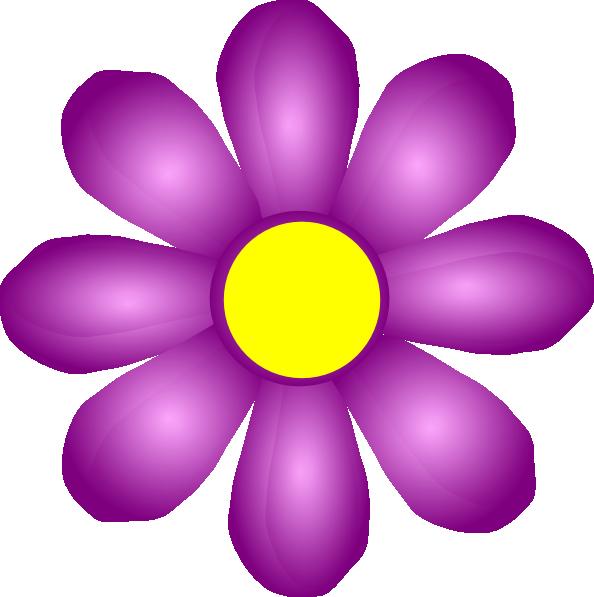 Violet Flower Clip Art at Clker.com.