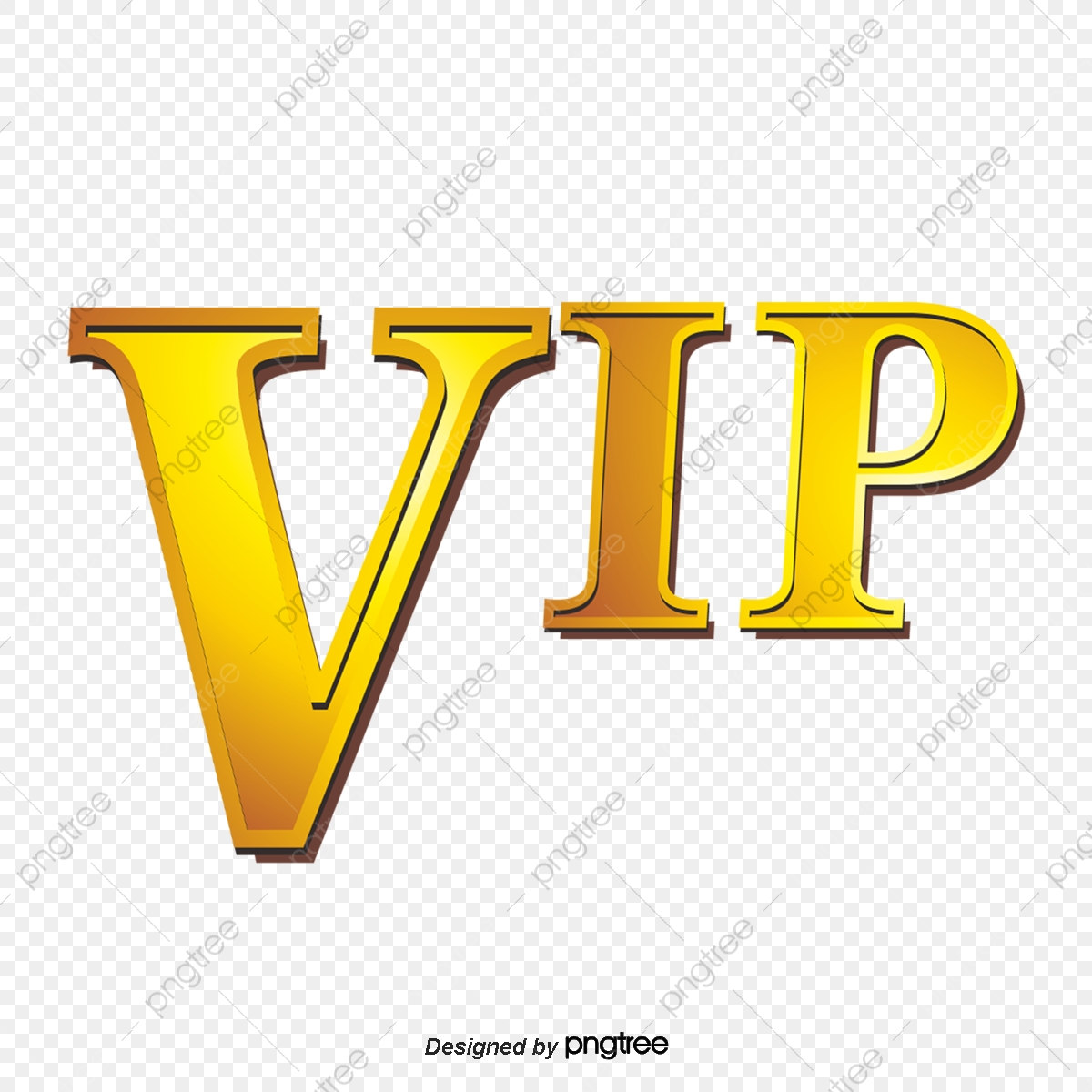 Vip Font Effects, Golden Font, Vip Guests, Special Members PNG.