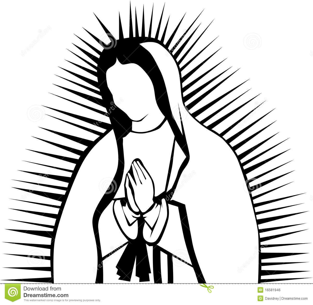 our lady of guadalupe clip art images.