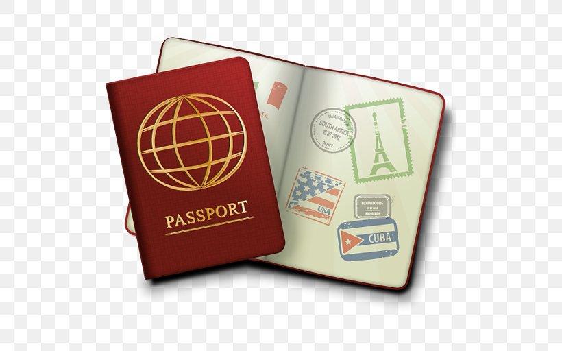 Passport Stamp Travel Visa Clip Art, PNG, 512x512px.