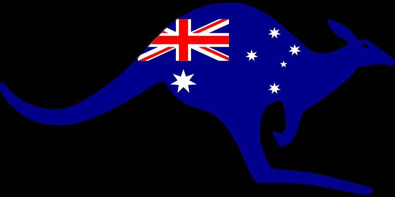 Australia, Australia Kangaroo Symbol Aussie Tourism C.