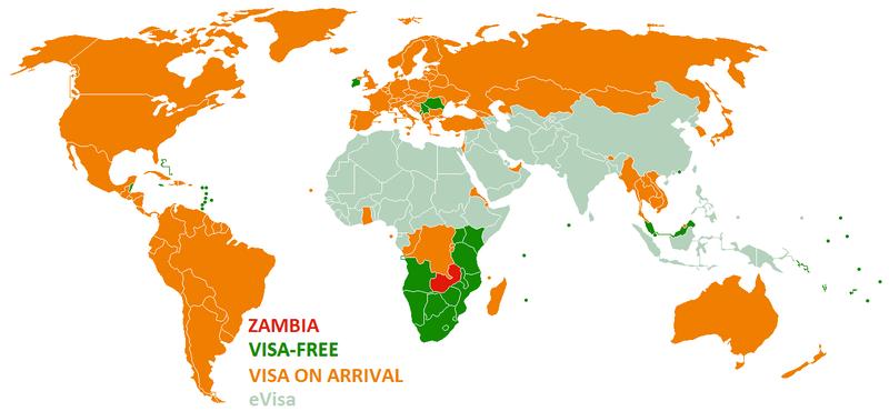 Visa policy of Zambia.