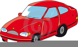 Clipart Voiture Rouge.