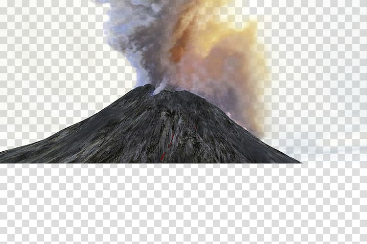 Volcano Magma Rock, Volcano transparent background PNG.