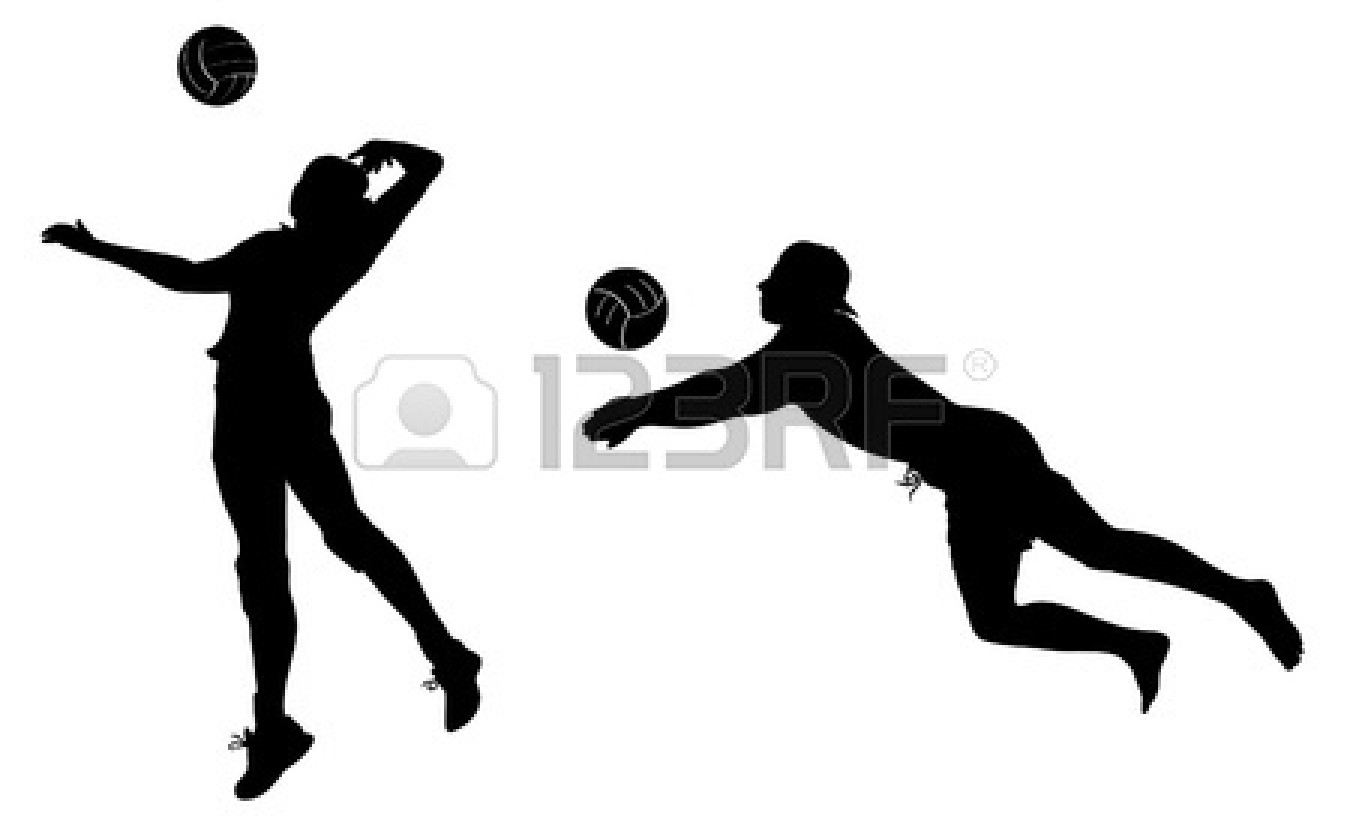 Volleyball players clipart 1 » Clipart Station.