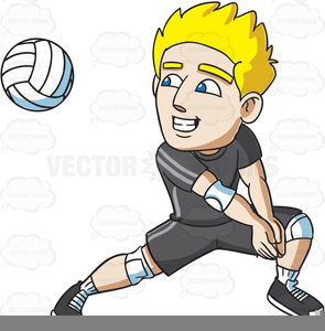 Free Volleyball Player Clipart.