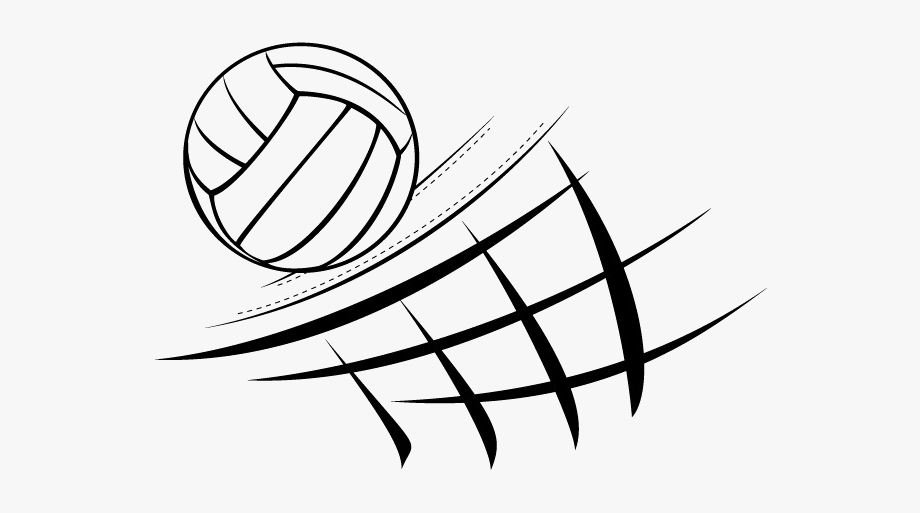 Black Volleyball Png Image.