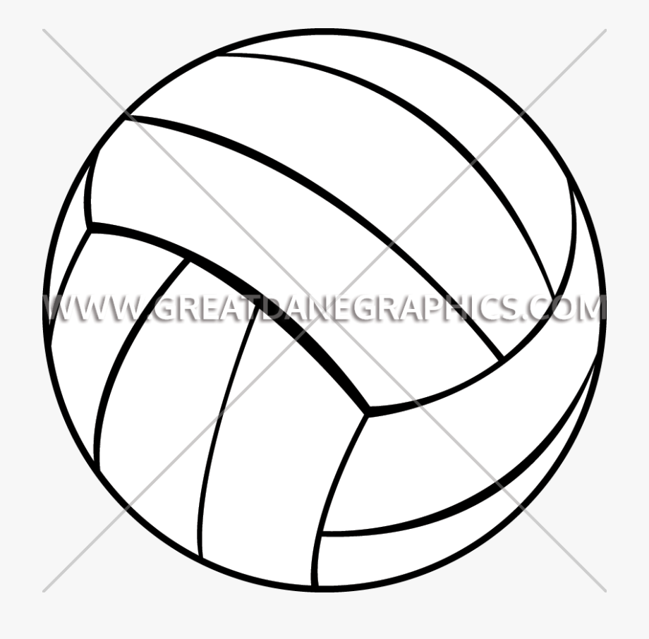 Line Clipart Volleyball, Cliparts & Cartoons.