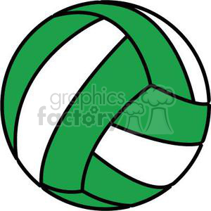 green volleyball clipart. Royalty.