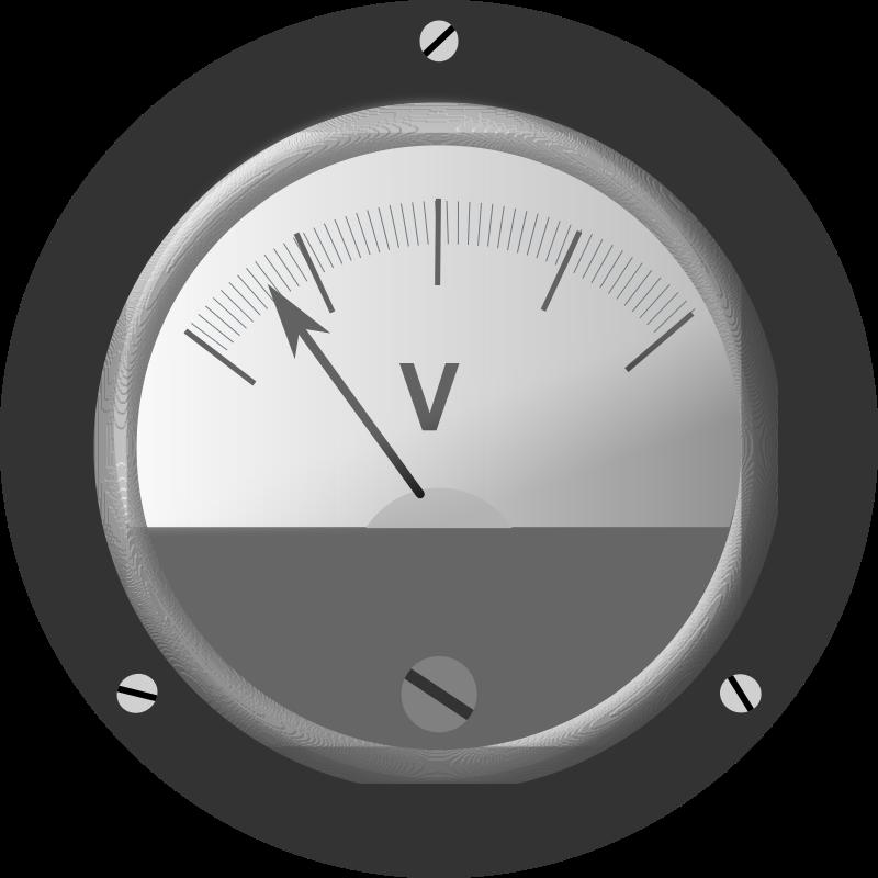 Free Clipart: Bakelite Voltmeter.