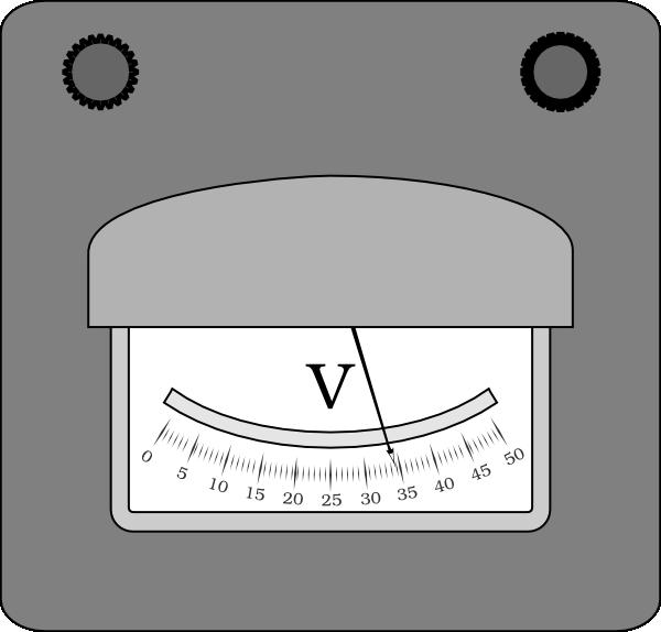 Voltmeter B&w Clip Art at Clker.com.