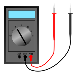 Multimeter with leads clipart, cliparts of Multimeter with.