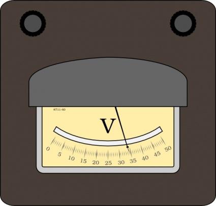 Voltmeter clip art Clipart Graphic.