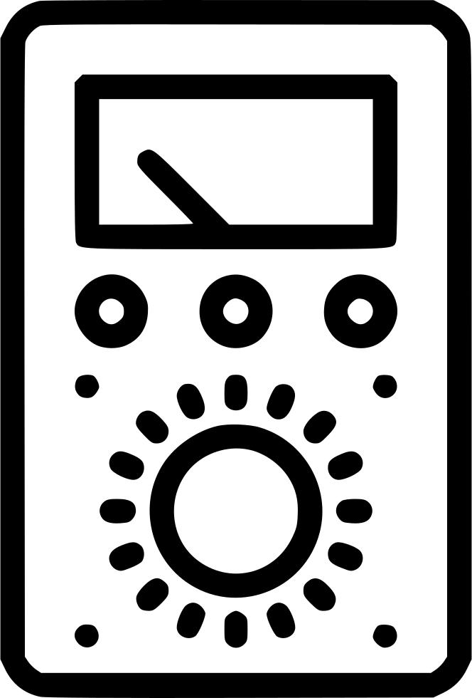 Electronics clipart voltmeter, Electronics voltmeter.