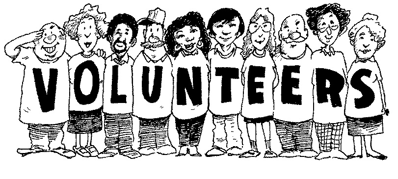 Thank You Volunteers Black And White Clipart.