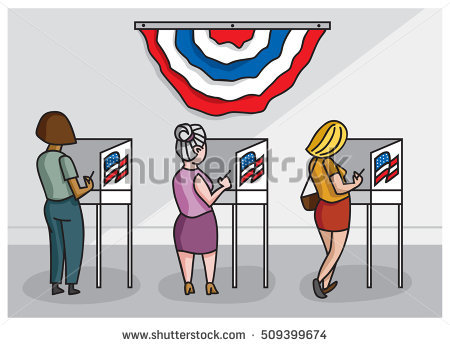 Clipart Of People Voting.