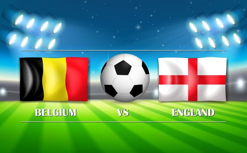 Belgium VS England template.