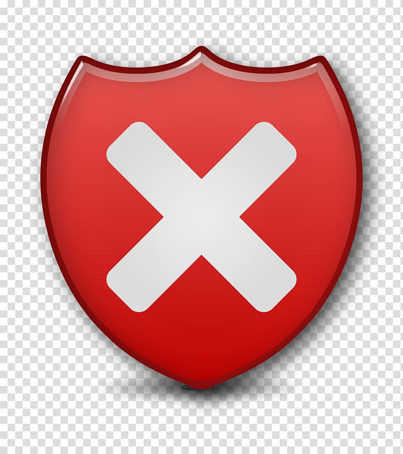 Vulnerability Button Icon, Close Security Shield transparent.