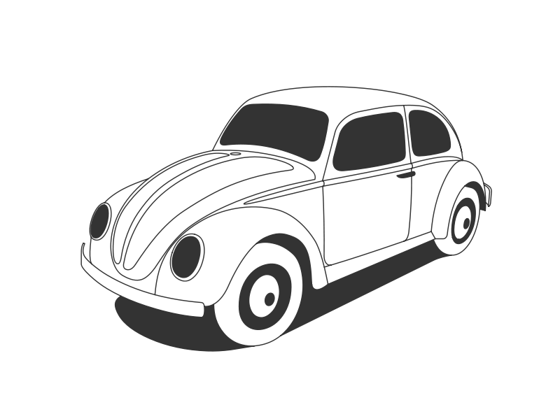Free Clipart: VW Beetle Classic.