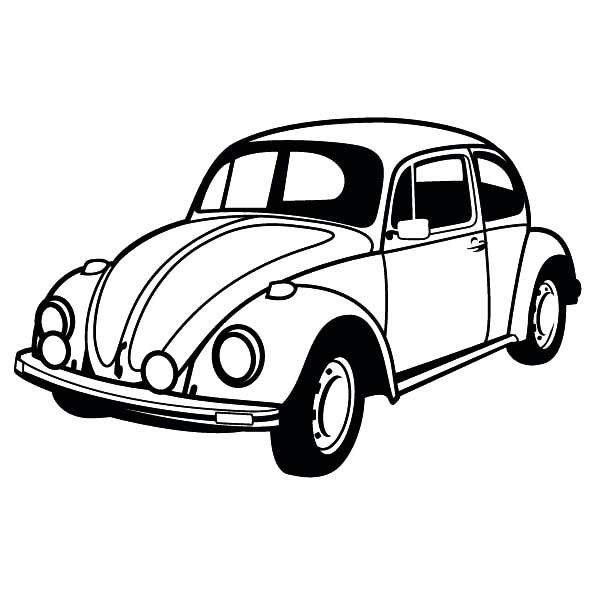 Vw bug coloring pages vw beetle coloring pages » Clipart Station.