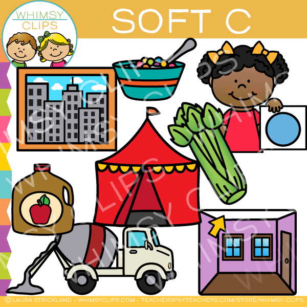 Soft C Words Clip Art.