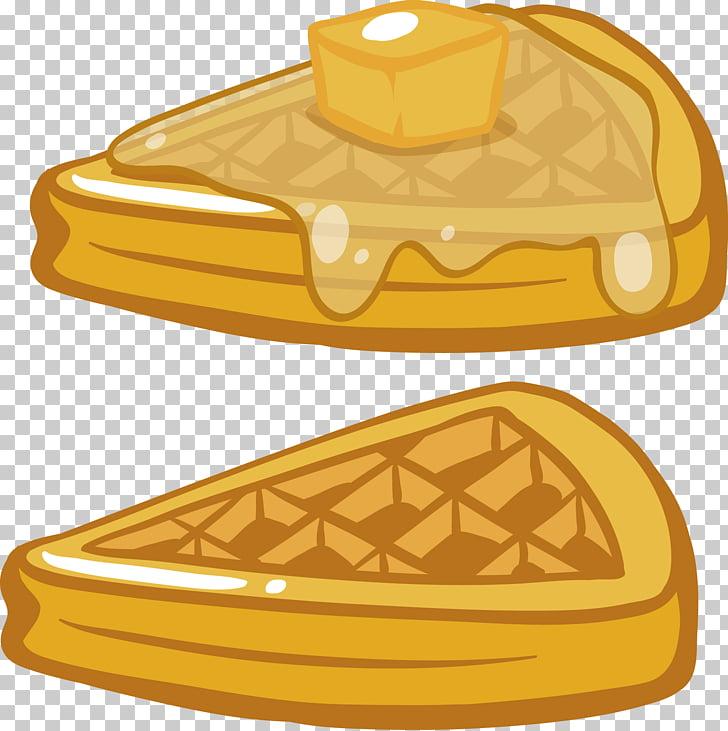 Breakfast Pancake Waffle Crxeape, Triangle coconut bread PNG.