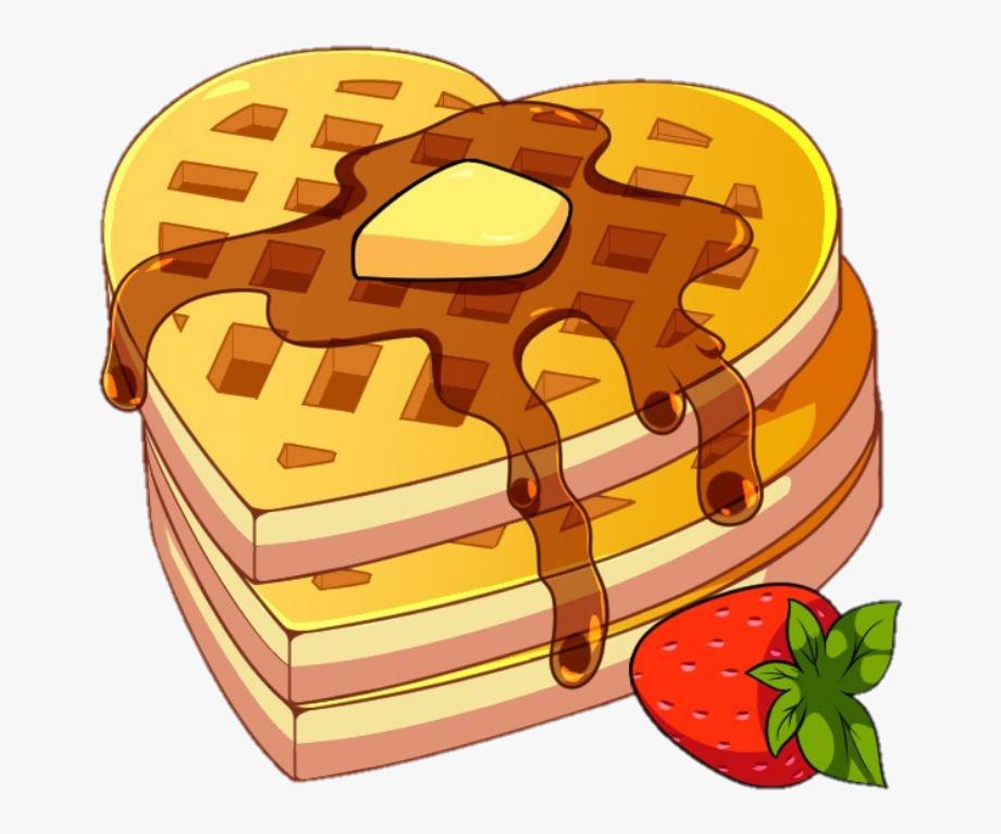 Waffles Clipart Heart.