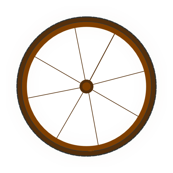 Wagon Wheel Clip Art at Clker.com.