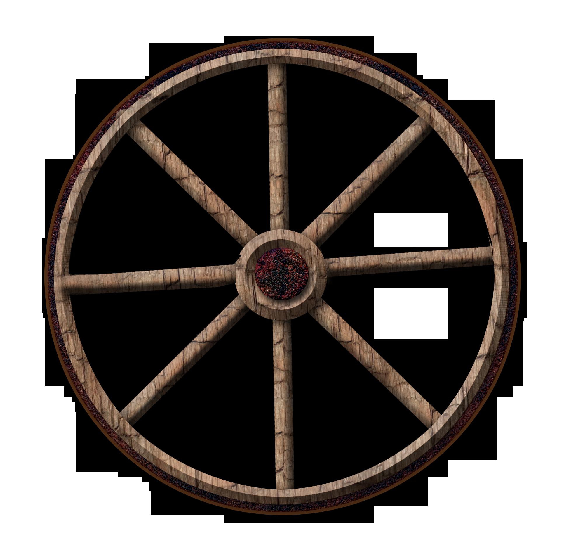 Wagon Wheel Clip Art N24 free image.