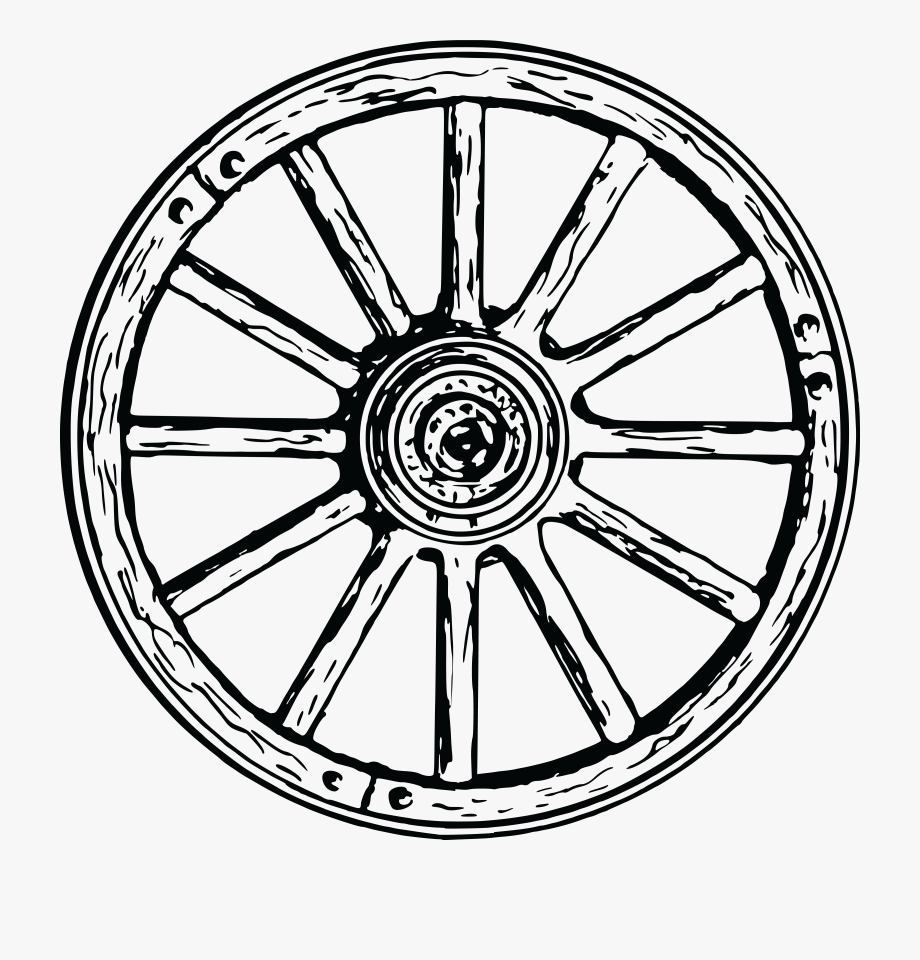 Free Clipart Of A Wagon Wheel.