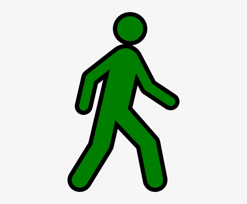 Person Walking Away Clipart.