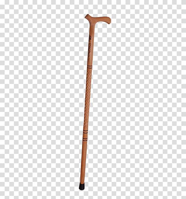 Brown wooden walking cane, Wooden Walking Stick transparent.