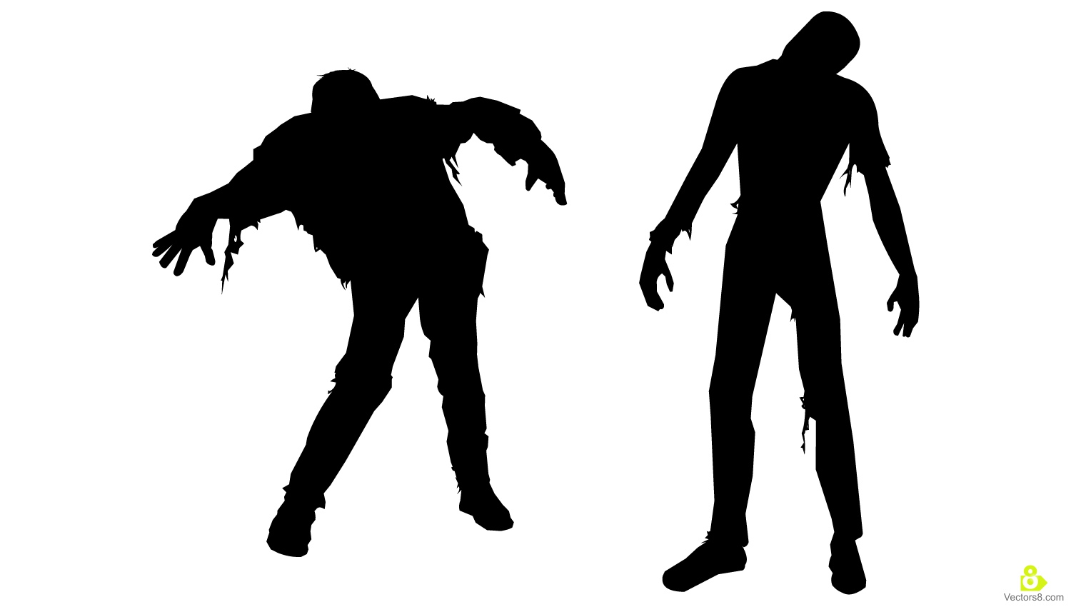Walking Dead Zombies Silhouettes.